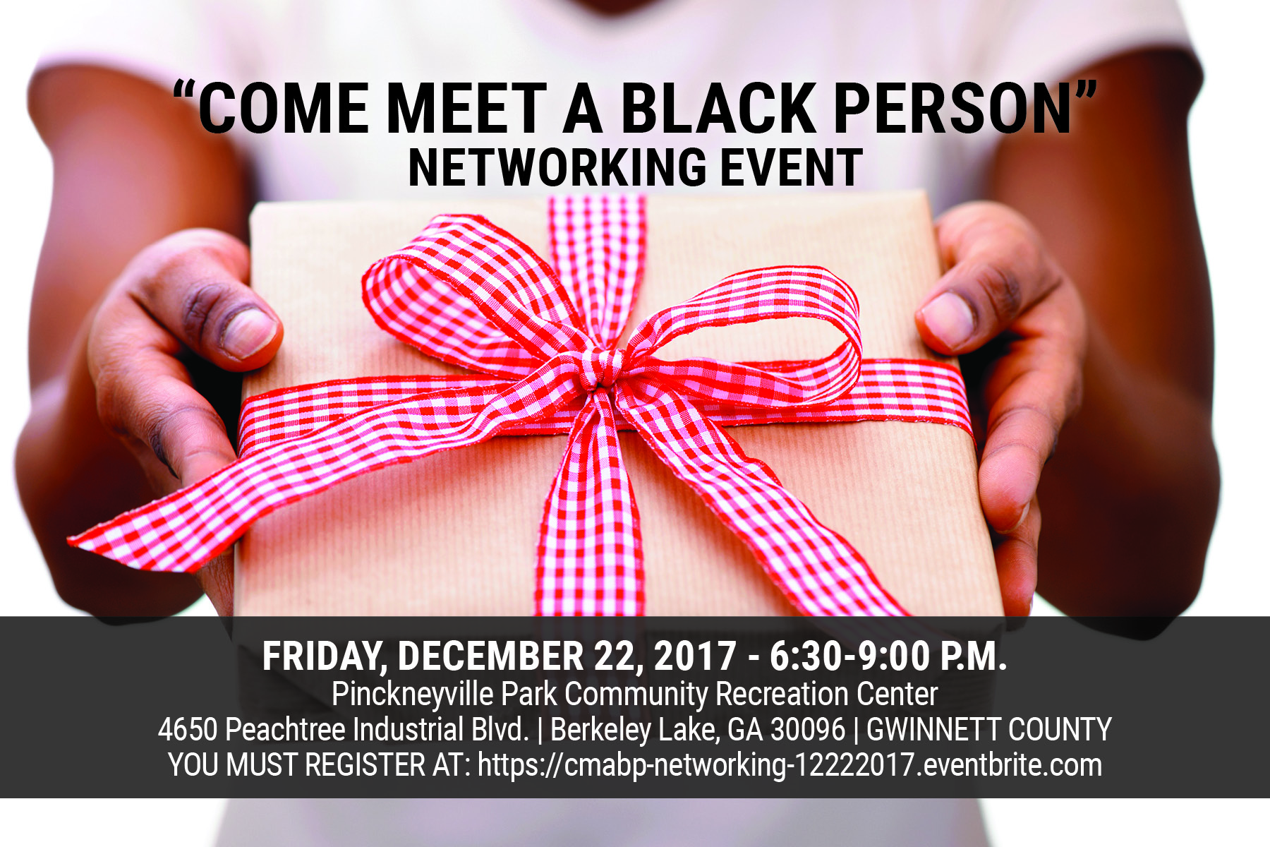 Come Meet A Black Person December 2017 graphic