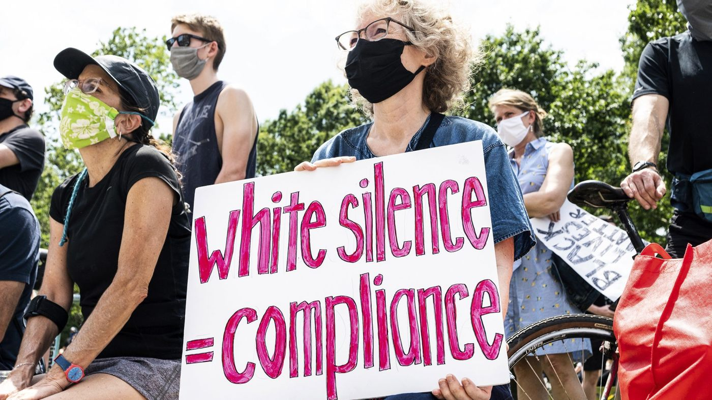 white protestors